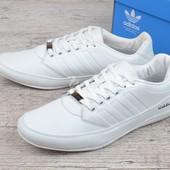 Кроссовки мужские кожаные летние белые Adidas Porshe Design S3 white Вьетнам