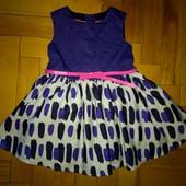 Нарядное пишное платье с поясом Mark&Spencer 1-2 года отл сост