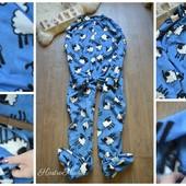 Теплый мужской флисовый слип-пижама,р-р ХЛ