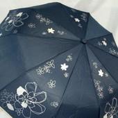 Новинка! Крепкий качественный женский зонт Антиветер 10 спиц карбон.