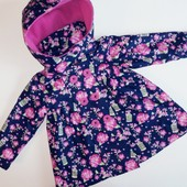 Деми куртка плащ  Lily&Lola непромокаемая на девочку 6-12мес. 68-80см