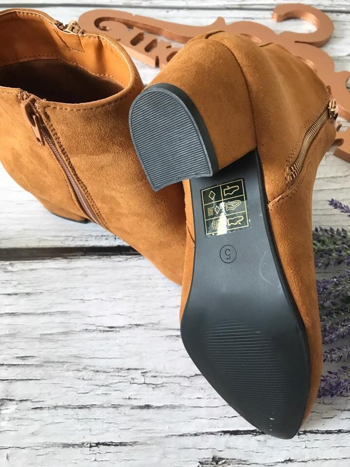 Трендовые полуботинки на скошенном каблуке с декоративной кисточкой  sh1717 фото №3