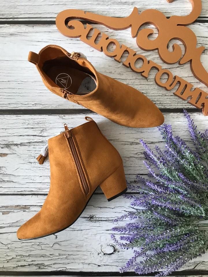 Трендовые полуботинки на скошенном каблуке с декоративной кисточкой  sh1717 фото №4