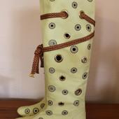 Шкіряні літні чоботи Aquamarin