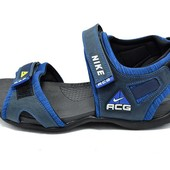 Сандалии мужские Nike ACG H2 синие (реплика)