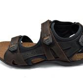 Сандали мужские Ecco E2T коричневые (реплика)