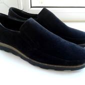 Туфли-мокасины замшевые. Размер 43 в наличии
