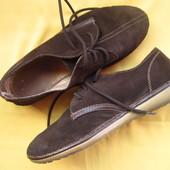 Замшевые туфли мокасины,р.38,отличное состояние