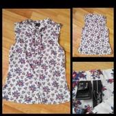 Фирменная коттоновая блузка Mango, размер S