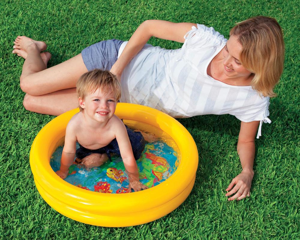 """Надувной бассейн - мини """"Водный мир"""" 61*15 см фото №1"""