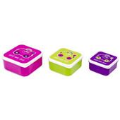Trunki Контейнер для еды ланч бокс 3 в 1  для завтрака розовый, фиолетовый, зеленый