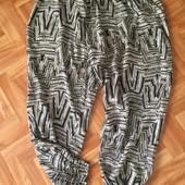 Легкие штаны-шаровары большого размера от janina