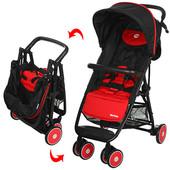 Детская коляска Motion M 3295-3, прогулочная, книжка, eva-колеса, красная