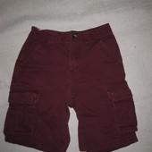 6-7 лет, бордовые шорты для мальчика