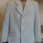 пиджак светло-серый 128 см рост