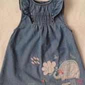 Джинсовое платье-сарафан TU ( 6-9 мес / 68-74 см )