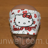 Детская повязка-косынка на голову для девочки Hello Kitty