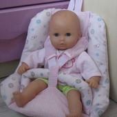 Кукла пупс lissi Германия с креслом переноской