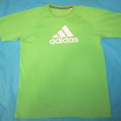 """Футболочка """"Adidas"""" унисекс с маленьким изъянчиком (см. описание), замеры в описании, Уп 13грн"""