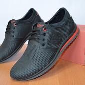Кожаные туфли с перфорацией