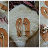 Кожаные золотые сандали-босоножки Asos,р-р 39