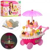 Магазин 66070 солодощі, візок-прилавок, монети, 55 дет., світло, муз., бат., кор., 36-27-9 см.