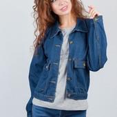 Куртка джинсовая темно-синяя женская AG-0003161