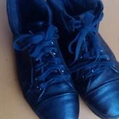 Кожанные ботинки -кеды