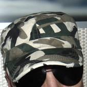 Стильная фирменная кепка милитари Hantarex хаки 56-58