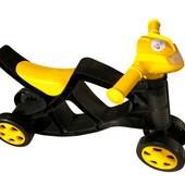 Мини байк без звука 0136/03 черно-желтый Фламинго мотоцикл каталка велобег беговел