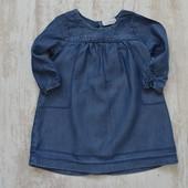 Шикарное джинсовое платье на 6 мес