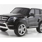Детский электромобиль mercedes glk 350 4matic: 8 км/ч, 90w, eva, кожа - Черный