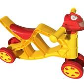 Мини байк музыкальный 0137/03 желто-красный Фламинго Doloni мотоцикл беговел каталка велобег