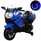 Детский мотоцикл M 3208el eva колеса кожаное сиденье 3208 ,свет фар,багажник,четыре цвета