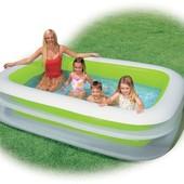 Акция! Бассейн 56483 детский надувной Intex Интекс прямоугольный, басейн дитячий