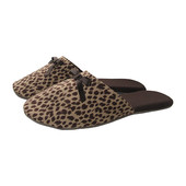 Леопардовые домашние тапочки