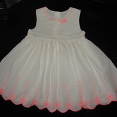 нарядное платье George 9-12 мес 100% х/б (можно до 1,5 лет) сост. отл.