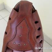 шкіряні літні туфлі 39р. 25.5см