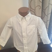 Красивая нарядная белая рубашечка H&M на 1-1,5 годика в идеальном состоянии