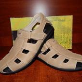 Мужские кожаные сандалии Slat оливка 41-42р.