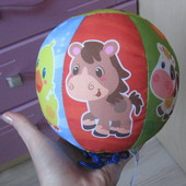 Мягкий мяч для самых маленьких со звуками животных clementoni Италия