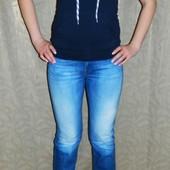Джинсы женские синие с белыми потёртостями р. 29 Diesel (Дизель)