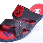 Шлепанцы кожаные Ferrari