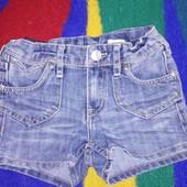 джинсовые модные шорты 3-5 лет