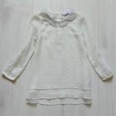 Нежная воздушная звёздная блуза-туника для девочки. George. Размер 2-3 года
