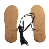 Стельки встелки теплые мужские USB питание коричневые