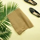 S-M Mango актуальная кремовая юбка с замочком сбоку!
