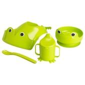 Набор детской посуды, 4 шт., зеленый от Икеа, новый