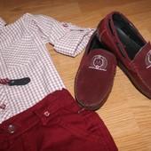 бордовые туфли мальчику