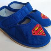 Детские тапочки для мальчика (28-32), код товара - Супермен-2